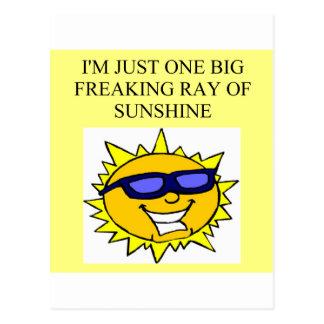 Carte Postale raie de soleil freaking