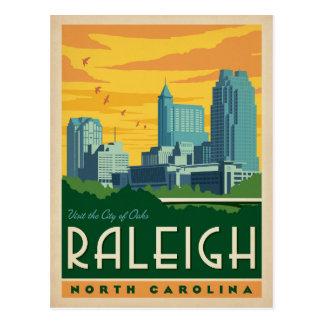 Carte Postale Raleigh, ville de la Caroline du Nord | des chênes