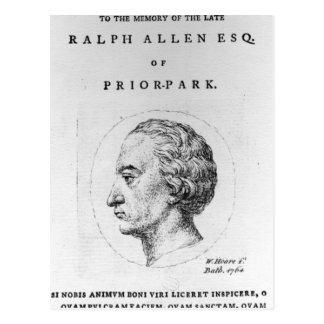 Carte Postale Ralph Allen, 1764