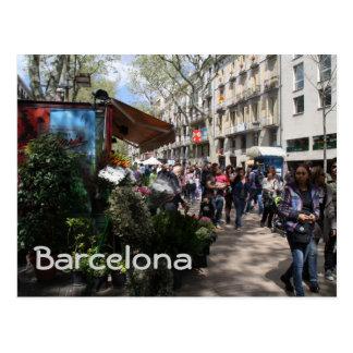 Carte Postale Rambla, Barcelone