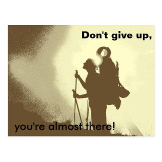 Carte Postale Randonnée inspiré de motivation d'encouragement