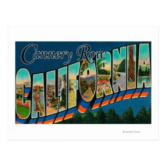 Carte Postale Rangée de fabrique de conserves, la Californie -