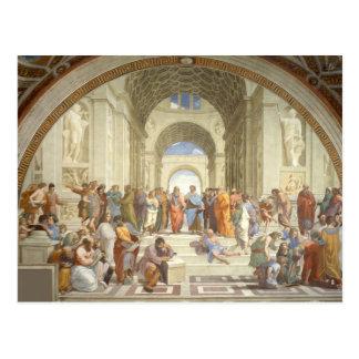 Carte Postale Raphael - École d'Athènes