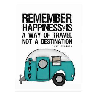 Carte Postale rappelez-vous le bonheur
