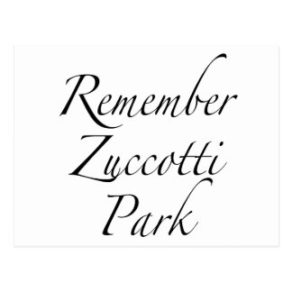 Carte Postale Rappelez-vous le parc de Zuccotti pour occuper des