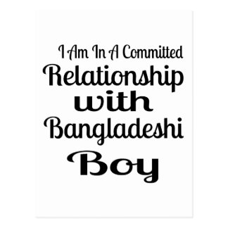 Carte Postale Rapport avec le garçon bangladais