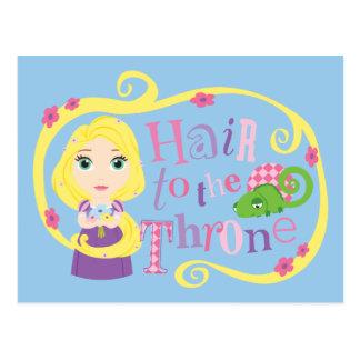 Carte Postale Rapunzel - cheveux au trône