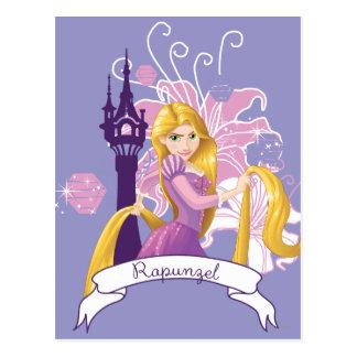Carte Postale Rapunzel - déterminé