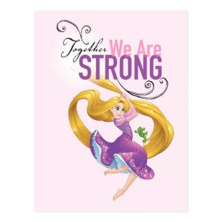 Carte Postale Rapunzel   ensemble nous sommes forts