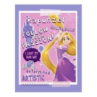 Carte Postale Rapunzel - suivez votre passion