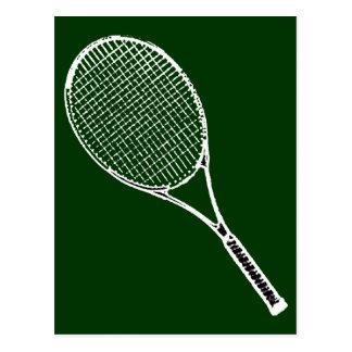 Carte Postale raquette de tennis