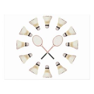 Carte Postale Raquettes de badminton