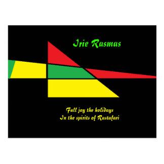Carte Postale Rasmas de cartes-irie de salutation de Rastafari