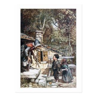 Carte Postale Rassemblement de Hansel et de Grethel la sorcière