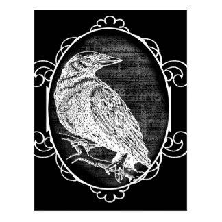 """Carte Postale """"Raven"""" a inspiré la conception graphique"""