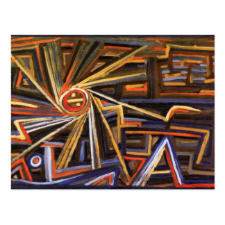 Carte Postale Rayonnement et rotation par Paul Klee