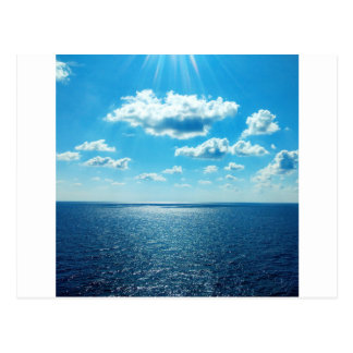 Carte Postale Rayons au-dessus de la mer