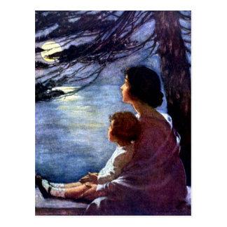 """Carte Postale """"Rayons de lune"""" par Jessie Willcox Smith"""