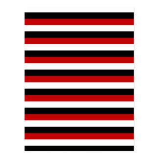 Carte Postale Rayures de drapeau du Trinidad-et-Tobago Yémen