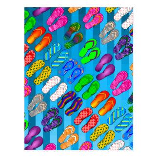 Carte Postale Rayures de gradient/regard tropical et moderne