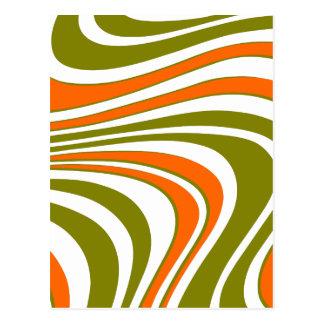 Carte Postale Rayures sinueuses abstraites