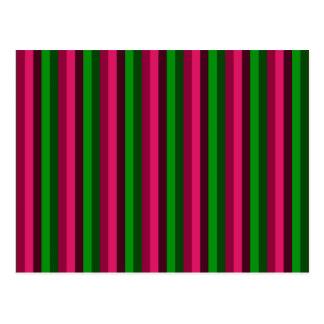 Carte Postale Rayures vertes, rouges et pourpres