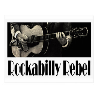 Carte postale rebelle de rockabilly