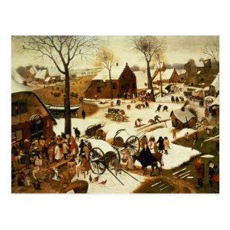 Carte Postale Recensement à Bethlehem, c.1566
