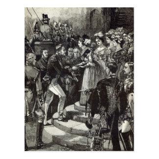 Carte Postale Réception de Louis Philippe au château de Windsor