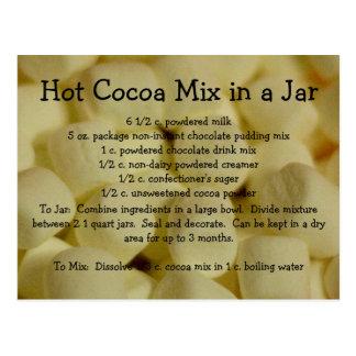 Carte Postale Recette chaude de préparation de cacao