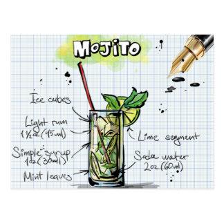 Carte Postale Recette de Mojito - cadeau de cocktail
