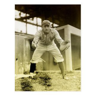 Carte Postale Receveur vintage de base-ball
