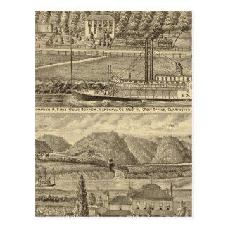 Carte Postale Recherche du défunt Thompson H Sims