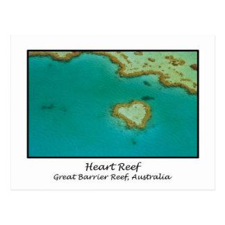 Carte Postale Récif de coeur, la Grande barrière de corail,
