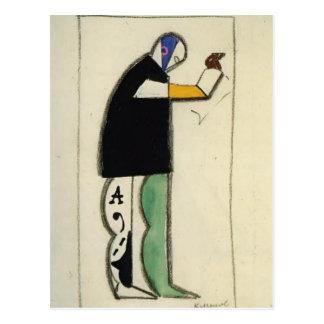 Carte Postale Reciter de Kazimir Malevich-