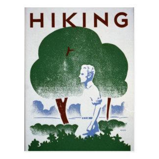 Carte Postale Récréation vintage WPA de randonnée