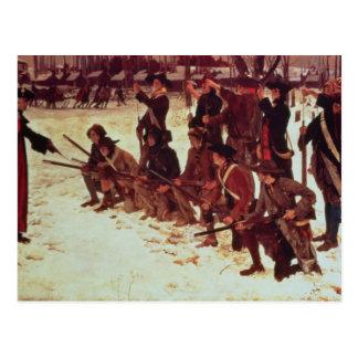 Carte Postale Recrues de forage d'Américain de baron von Steuben