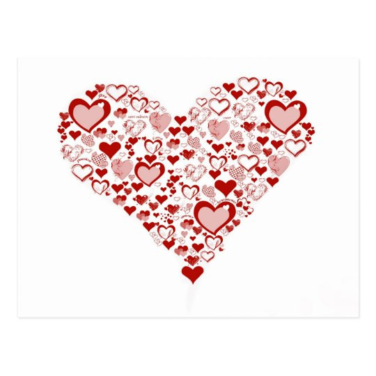 Carte Postale red heart
