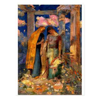 Carte Postale Redon - conversation mystique