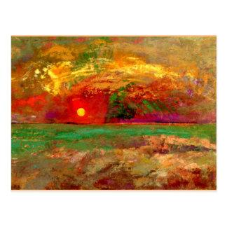 Carte Postale Redon - le coucher du soleil