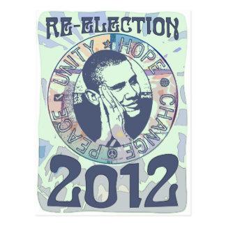 Carte Postale Réélisez la vitesse du Président Obama Election