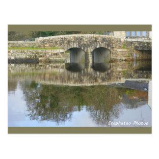Carte Postale Refflets du pont d'Huelgoat BRETAGNE FRANCE