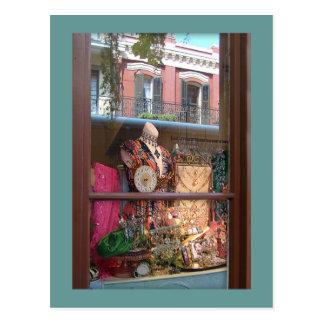 Carte Postale Réflexion de fenêtre de quartier français