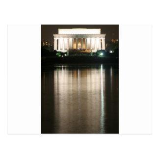 Carte Postale Réflexion de nuit du Lincoln Memorial
