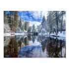 Carte Postale Réflexion d'hiver chez Yosemite