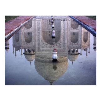 Carte Postale Réflexion du Taj Mahal, Âgrâ, uttar pradesh,