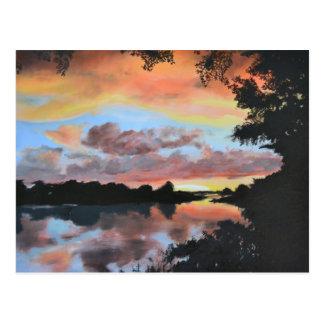 Carte Postale Réflexions de la rivière Zambesi