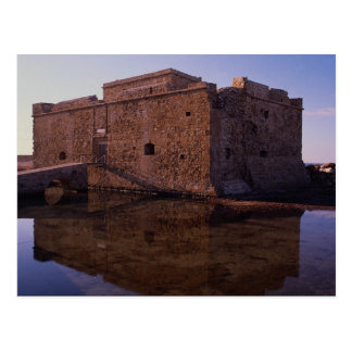 Carte Postale Réflexions, fort médiéval, Nea Paphos, Chypre
