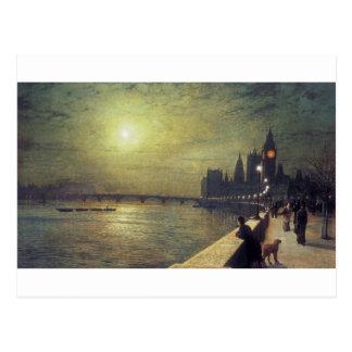 Carte Postale Réflexions sur la Tamise, Westminster par John