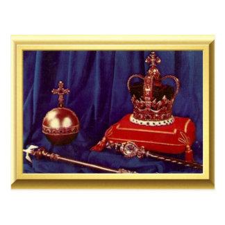 Carte Postale Régalia de couronnement de la Reine Elizabeth II